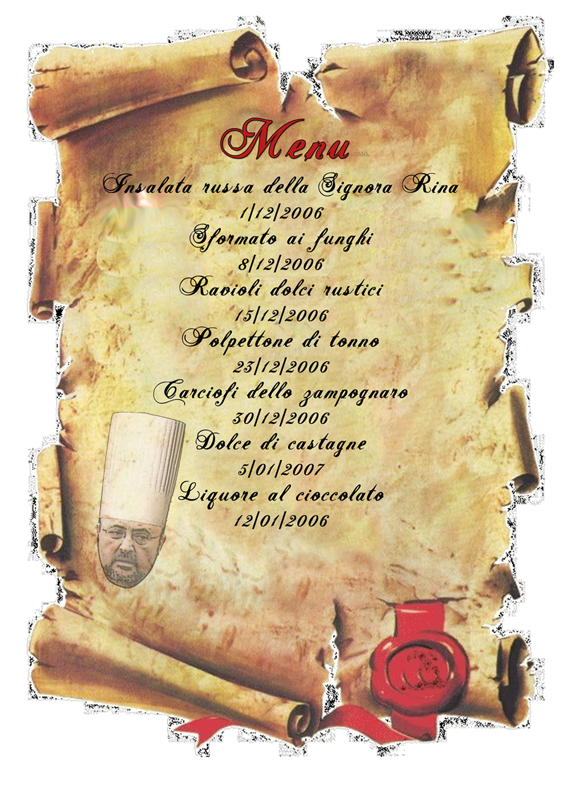 Finti menu