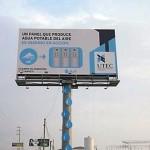 Il cartellone pubblicitario che produce acqua potabile
