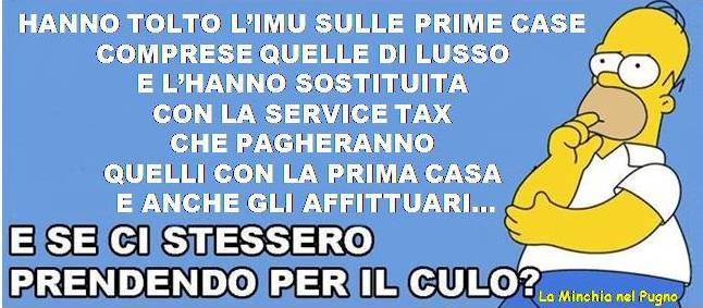 "Addio Imu, ""benvenuta"" Service tax"