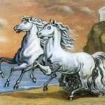 Due amici parlano dei loro cavalli