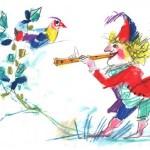 Un flautista si perde nella giungla, ma grazie al suo flauto incanta gli animali
