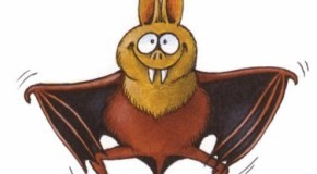 Un pipistrello, coperto di sangue, ritorna con andatura a zig zag alla sua grotta