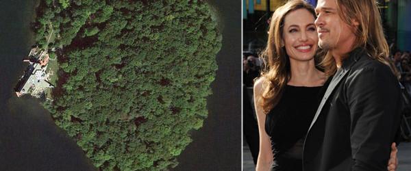 Per i 50 anni di Brad Pitt, Angelina Jolie gli regala un'isola a forma di cuore!
