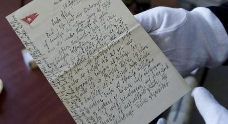 All'asta una lettera scritta durante l'affondamento del Titanic