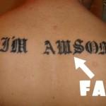 Tatuaggi sbagliati (54 foto di errori incredibili)