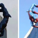 La statua di Spiderman con un'erezione (FOTO)