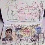 Costretto a restare all'estero perché il figlio gli scarabocchia il passaporto
