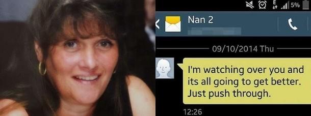 Ragazza invia sms alla nonna morta e lei le risponde dalla tomba