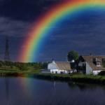 Perchè l'arcobaleno è a forma di arco e perchè ha quei colori?